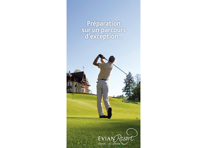 Evian resort digital bannière golf
