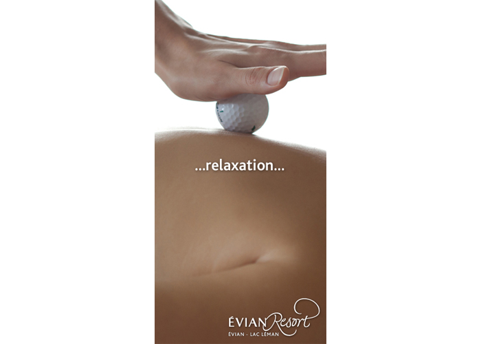 Evian resort digital bannière