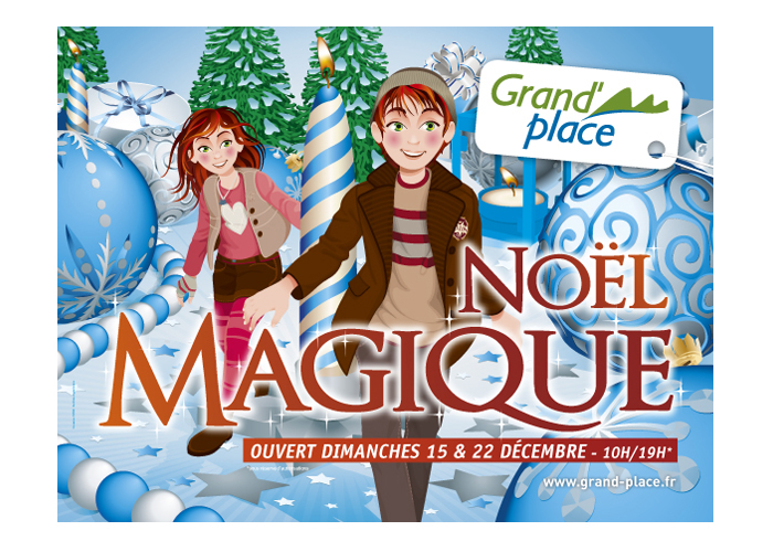 Grand place noel magique animation